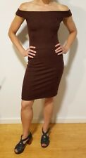 7c4465646211 Metalicus Dress, Bodycon Cocktail style, Deep Brown, One Size