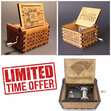 Game of Thrones Theme Music Box Engraved Wooden Crafts  Interesting Toys Gifts