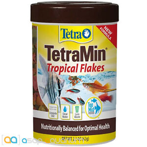 Tetra TetraMin Tropical Flakes Fish Food 2.2 oz Fast Free USA Shipping