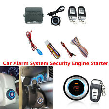 C3 Car Alarm System Security Audible Alarm Engine Starter Push Button Remote Kit