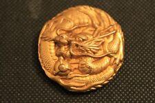 LINE VAUTRIN : Broche clip en bronze doré Signée