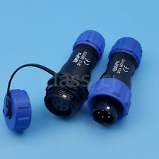 1set Sp13 5pin Waterproof Ip68 In Line Circular Aviation Plug Cable Connector