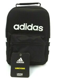 Adidas Santiago Lunch Box Sporty School Lunch Bag or Snack pack - Black / White