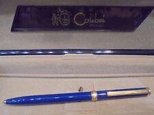 PENNA A SFERA COLIBRI of London VINTAGE-blu e placcata oro-Ballpoint pen-Biro