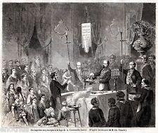 BATTESIMO MASSONICO. Loggia della Fraterna Amicizia. Rituali Laici. Costumi.1861