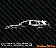 2x silhouette stickers aufkleber -for Opel Insignia Kombi Sports Tourer 2008-17