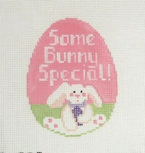 Kathy Schenkel Some Bunny Special Easter Egg sg Handpainted Needlepoint Canvas