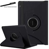 Housse Etui Noir pour Huawei MediaPad T5 10.1'' Support Rotatif 360°