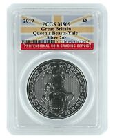 2019 Great Britain 2oz Silver Queens Beast Yale PCGS MS69 - Flag Label