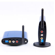 PAT-630 TV Audio Video Sender 5.8GHZ, 200m AV Wireless Transmitter Receiver Blue