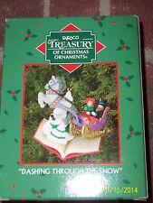 """Enesco Treasury of Christmas Ornaments  """"Dashing Through The Snow"""" NEW"""