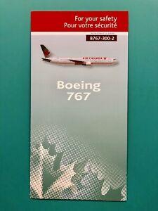 AIR CANADA SAFETY CARD--767-300–2009