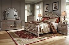 Ashley Furniture Birlanny Queen 6 Piece Bed Set w/Faux Crystal Inserts B720