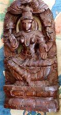 """Indian Goddess wooden statue 24"""""""