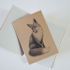 Fox notebook. Recycled A6. Fox illustration. Eco friendly notebook. Fox gift