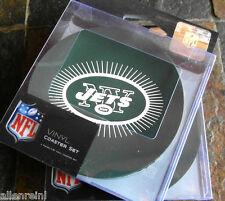 2 - 4 Packs Vinyl Drink Coasters - New York Jets