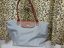 Womens Gray Handbag/Purse By LongChamp