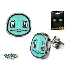 OFFICIAL NINTENDO'S - POKEMON SQUIRTLE FACE STUD EARRINGS (BRAND NEW)