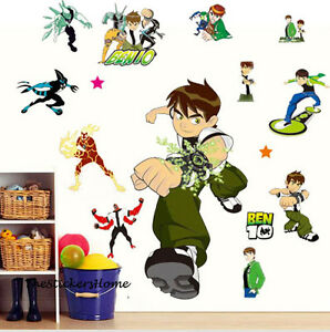 Ben 10 Wall Stickers Boys Room Art Decor Removable stickers ALIEN FORCE UK Stock