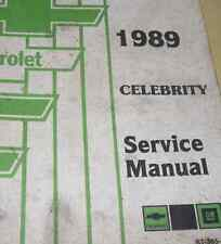 1989 GM CHEVY CHEVROLET CELEBRITY Service Repair Shop Manual FACTORY 89 OEM