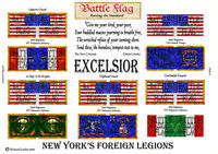28mm ACW Wargame Flags by Battle Flag. New York's Foreign Legions.