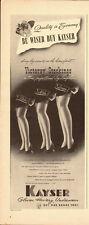 1942 Vintage ad for KAYSER Gloves, Hosiery, Underwear/Legs (042113)