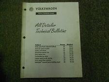 1990 1995 Volkswagen All Detailer Technical Bulletins Service Manual FACTORY OEM