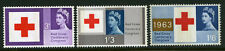 1963 3d-1/6 RED CROSS PHOSPHOR SET U/MINT SG 642p-644p