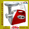 2000W NEW ELECTRIC MINCER & SAUSAGE GRIND FILLER MEAT GRINDER IN RED