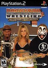 PS2  - Backyard Wrestling 2: There Goes the Neighborhood - Disc Only - Refurbish