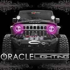 2007-2017 Jeep Wrangler JK ORACLE LED SMD Headlight Halo Kit - 2 Rings/ Pink