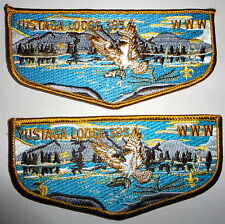 Yustaga Lodge 385 Flap Set (with & w/o flower) - Order of the Arrow OA Patch