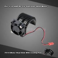 7014 Motor Heat Sink With Cooling Fan for 1/10 HSP RC Car 540/550 3650 M4W7