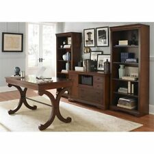 Liberty Furniture Brookview 4 Piece Home Office Set in Rustic Cherry