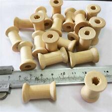 20pcs Wooden Empty Thread Spools Reels Bobbins for Sewing Ribbons Craft 27X16mm