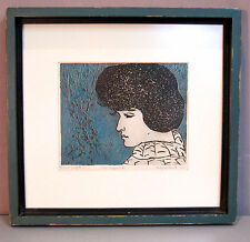 MAGGY PRESTON__Orig 1967 Etching by Noted PA Artist__Signed/Framed__SHIPS FREE
