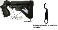 Adjustable Tactical Stock + Grip & Pad + Wrench For Mossberg 500 & Maverick 88