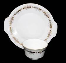 Vintage Minton Rhapsody golden wattle two eared cake plate & sugar bowl