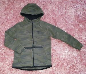 Boys Army Green Camo Camouflage Hoodie Hoody Jacket Jumper Top Size 5 - 6 Years