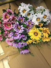 Artificial Gerbera Daisy Flowers Bunch X 12 Wholesale Joblot