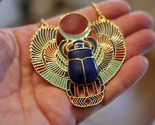 x4 Retro Egyptian Necklace Set | Horus, Osiris, Scarab, Winged Scarab