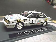 AUDI 200 Quattro Turbo Rallye Schwarz Sachs Winter LUK 1988 #4 SMS UMBAU 1:43
