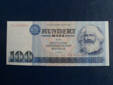 1975 DDR/GDR Replacement East German 100 Mark Bank Note-Karl Marx-UNC 18-414