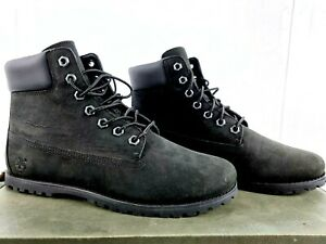 Timberland Boots Women Size 7 Joslin Premium 6IN Black Leather Lace Up TB0A19GR