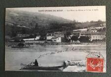 CPA. SAINT PIERRE DE BŒUF. 42 - Les Rives du Rhône. Bac à traille. 1907.