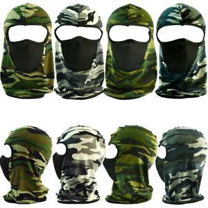Face Mask Winter Warm Hat 1 One Hole Balaclava Hood Tactical Camo Full Cover Lot