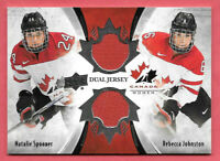 2016-17 Natalie Spooner - Rebecca Johnson Upper Deck Team Canada Juniors Jersey