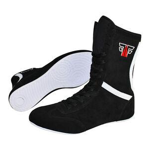 FOX-FIGHT Boxing Schuhe Boxstiefel Boxschuhe Box Hog Boxerstiefel Leder