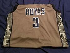 Throwback Allen Iverson Georgetown University Basketball Jersey Sz L Stitched