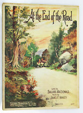 """""""At The End Of The Road"""" Authentic 1924 Vintage Sheet Music Wonderful Cover Art"""